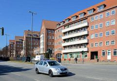 Wohnblocks - Architektur der 1930er Jahre, Breite Strasse Hamburg Altona.