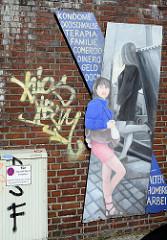 Wandbild der FrauenFreiluftGalerie in der Grossen Elbstrasse in Hamburg Altona-Altstadt.