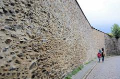 Reste der alten Stadtbefestigung / Stadtmauer in Goslar.