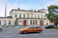 Bahnhofsgebäude von Bunzlau / Bolesławiec.