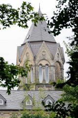 Turm, Ratsgymnasium Goslar - Gründung 1528; neoromanisches Schulgebäude 1888 errichtet; Architekt Hubert Stier.