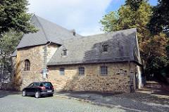 Klauskapelle in Goslar - Romanische kleine Hallenkirche aus dem 12. Jh., Teil der städtischen Wehranlage am Klaustor. Seit 1537 Hospitalkapelle der Bergleute.