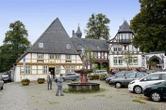 Frankerberger Plan - historischer Platz in Goslar beim Hospital Kleines Heiliges Kreuz, 1394 erstmalig erwähnt.