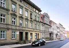 Stassenzug mit Wohngebäuden der Gründerzeit in Bunzlau / Bolesławiec.