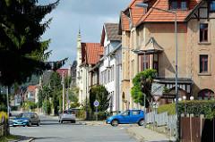 Villenviertel in Blankenburg / Harz; frei stehende Gründerzeitvilla.