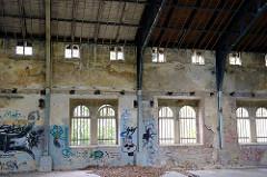 Ruine - verfallenes Gebäude / Palmenhaus der Orangerie von Wernigerode.