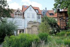 Ruine, Gelände der ehem. Synagoge der Jüdischen Gemeinde in Halberstadt.