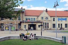 Bahnhof - Empfangsgebäude von Wernigerode.
