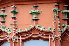 Detail vom 1494 erbauten Kaiser Worth, ehem. Gildehaus der Tuchhändler in Goslar.