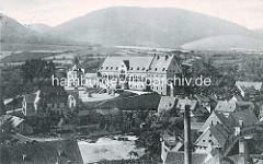 Historische Luftansicht / Luftbild von der Kaiserpfalz in Goslar.