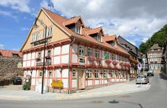 Altes Amtshaus am Burgberg in Wernigerode; jetzt Restaurant.