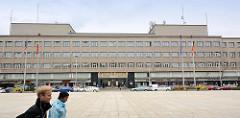 Expressionistische Architektur der 1920er Jahr - Neues Bauen; Verwaltungsgebäude in Hradec Králové / Königgrätz.