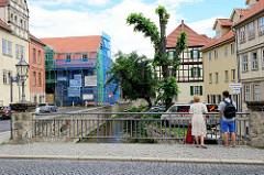 Brücke über den Mühlengraben in Quedlinburg.