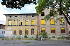 Ehem. Fabrikgebäude mit angegliederten Fabrikantenvilla - Industriearchitektur unter Denkmalschutz in Quedlinburg.