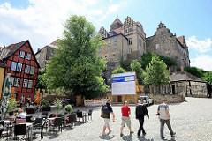 Restaurant / Cafe auf dem Schlossplatz beim Quedlinburger Schlossberg.