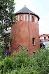 Ziegelturm am Bahnhof Quedlinburg.