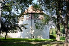 Rondell in Aschersleben - Verteidungsbauwerk der Stadtmauer, erbaut im 16. Jahrhundert.