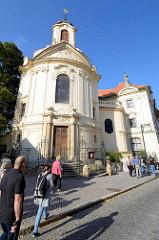 Kirche beim Ursulinenkloster in Kutná Hora / Kuttenberg; Barock Architektur, erste Hälfte des 18. Jahrhunderts - böhmischer Baumeister, Architekt Kilian Ignaz Dienzenhofer.