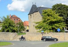 Evangelische St.-Margarethen-Kirche in Aschersleben - romaischer Kirchenbau, ursprünglich erbaut um 1100.