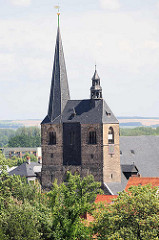 Kirchtürme der St. Benedikt / Marktkirche in Quedlinburg; Hallenkirche aus dem 15. Jahrhundert.