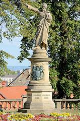 Skulptur, Denkmal Karel Havlíček Borovský in Kutná Hora / Kuttenberg.  Tschechischer Dichter, Prosaist, Literaturkritiker, Übersetzer, Politiker und Journalist.