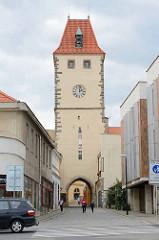 Prager Tor in Mělník - Turm der Stadtbefestigung aus dem 15. Jahrhundert.