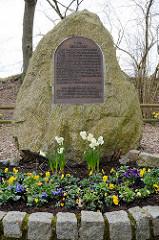 Gedenkstätte KZ Wittmoor in Hamburg Duvenstedt - KZ Wittmoor war eines der ersten deutschen Konzentrationslager und bestand vom 10. April 1933 bis zum Oktober 1933. Auf dem Gelände einer stillgelegten Torfverwertung im nahegelegenen Wittmoor sollten