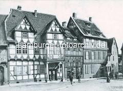 Alte Fotografie vom Klopstock Geburtshaus in Quedlinburg.