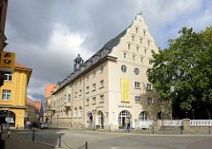 Rückseite / Erweiterungsbau vom Bestehornhaus in Aschersleben, erbaut 1938 - Stadtbaurat Hans Heckner; Sitz der Touristeninformation der Stadt.
