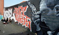 Grafitti - Schlachthofgelände im Hamburger Stadtteil Sternschanze.