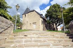 Evangelische St.-Margarethen-Kirche in Aschersleben - romaischer Kirchenbau, ursprünglich erbaut um 1100..