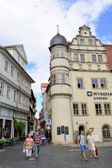 Stadtschloss 'Hagensches Freihaus', Straße Zwischen den Städten in Quedlinburg, erbaut 1566 im Renaissancestil - Adelshaus für Christian von Hagen. Abb 1633 diente das Anwesen als Residenz des Stifthauptmanns, jetzt Hotel.