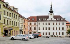Blick zum ehem. Neuen Rathaus, Kleiner Platz in Hradec Králové / Königgrätz - Renaissance Gebäude, restauriert 1868.