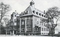 Altes Bild vom 3741 Bestehornhaus in Aschersleben - erbaut 1908; Kulturhaus.