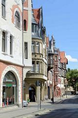 Jugendstilarchitekur, Gründerzeitgebäude an der Steinbrücke in Quedlinburg.