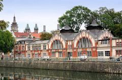 Wasserkraftwerk / Elektrizitätswerk Elbe, Labe in Hradec Králové / Königgrätz; Industriedenkmal - Jugendstilarchitektur, Art Nouveau - fertiggestellt 1912, Architekt  Franz Sander / Josef Gocár.