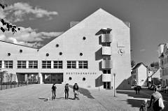Anbau vom Gebäude Bestehornpark - ehem. Papierfabrik, jetzt Kulturzentrum in Aschersleben.