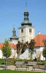Türme vom Jesuitenkolleg in Kutná Hora / Kuttenberg; erbaut 1700 nach Entwürfen von  Domenico Orsi.