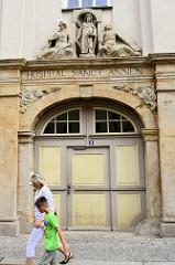 Portal, Eingang Hospital Sanct Annen in Quedlinburg - Spätbarock ca. 1799.