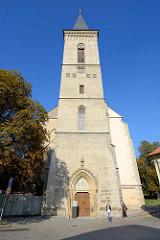 Kirche Mutter Gottes Na Náměti in Kutná Hora / Kuttenberg; erbaut 1357. Nach einem Brand 1470 wurde die Kirche umgebaut - rchitekten Matěj Rejsek und Benedikt Rejt.
