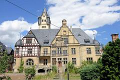 Gutshaus an der Wiperitstrasse in Quedlinburg; erbaut um 1900, Architekt Max Schneck - Baustil des Späthistorismus.