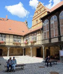 Wohn- und Wirtschaftsräume der Äbtissinnen vom Quedlinburger Damenstift - Renaissanceschloss aus dem 16. / 17. Jahrhundert - jetzt Städtische Museum.
