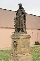 Denkmal Kaiser Karl IV. in Melnik - böhmischer Bildhauer Josef Max.
