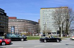 Der Abriss der City-Hochhäuser am Klosterwall / Deichtorplatz in der Hamburger Altstadt ist beschlossen; trotz Denkmalschutz werden die Gebäude beim Kontorhausviertel abgerissen - jetzt sollen dort Wohnungen, Gewerbe und ein Vier-Sterne Hotel erricht