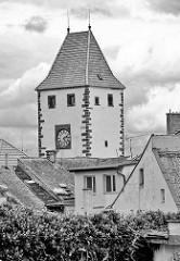 Turmspitze vom Prager Tor in Mělník - Turm der Stadtbefestigung aus dem 15. Jahrhundert.