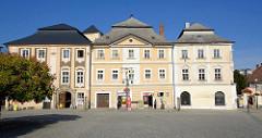Gebäude am Marktplatz in Kutná Hora / Kuttenberg, lks. Sankturin Haus.