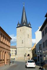Johannisturm in Aschersleben - erbaut 1380; Torturm der ehem. Verteidigungsanlage der Stadt.