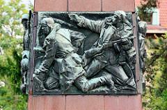 Detail - Denkmal für Kapitán Otakar Jaroš in Melnik; tschechoslowakischer Offizier, der als erster Ausländer mit dem höchsten sowjetischen Militärorden Held der Sowjetunion ausgezeichnet wurde.