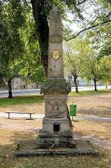 Gedenkstein für die Schlacht  bei Königgrätz 1866 in Dvůr Králové nad Labem / Königinhof an der Elbe.