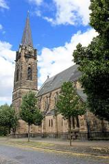St. Johanniskirche in Quedlinburg, erbaut 1906 - neogotische Spitalkirche vom Johannisstift.